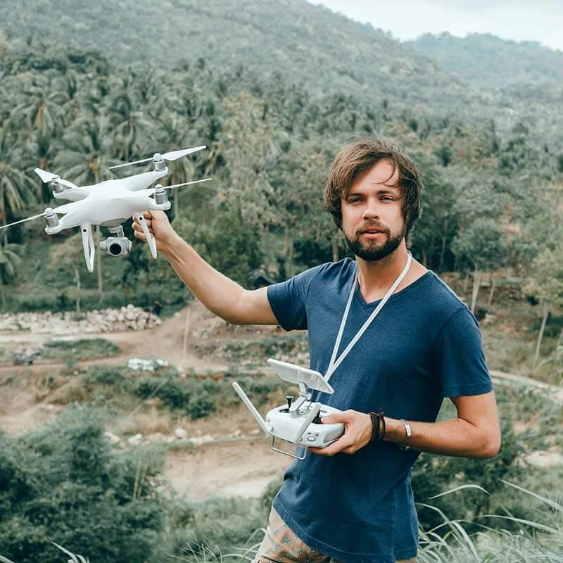 alquiler de drones para cine